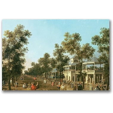 Trademark Global Canatello in.Vauxhall Gardens Grand Walkin. Canvas Art, 16in. x 24in.