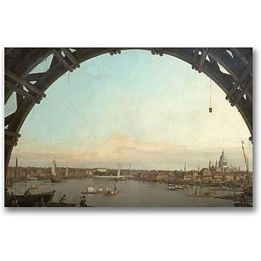 Trademark Global Canaletto in.London through an arch of Westminsterin. Canvas Art, 30in. x 47in.
