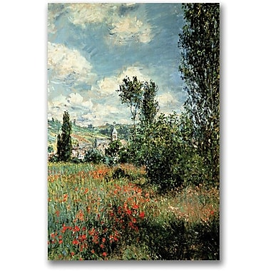Trademark Global Claude Monet in.Path through the Poppiesin. Canvas Art, 24in. x 16in.