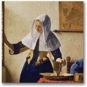 Trademark Global Jan Vermeer Young Woman with a Water Jug Canvas Art, 24 x 24