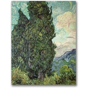 "Trademark Global Vincent Van Gogh ""Cypresses, 1889"" Canvas Art, 24"" x 18"""