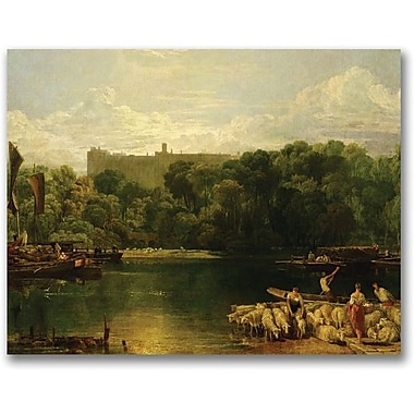 Trademark Global Joseph Turner in.Windsor Castle from the Thamesin. Canvas Art, 18in. x 24in.