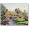 Trademark Global Jean Baptiste Guillamin in.The Bridge at Boignevillein. Canvas Arts
