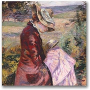 "Trademark Global Jean Baptiste Guillamin ""Madame Reading 1887"" Canvas Art, 24"" x 24"""