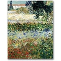 Trademark Global Vincent Van Gogh in.Garden in Bloomin. Canvas Arts