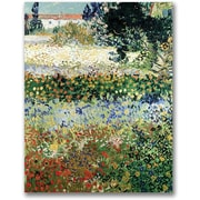 "Trademark Global Vincent Van Gogh ""Garden in Bloom"" Canvas Art, 47"" x 35"""