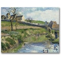 Trademark Global Camille Pissarro in.The Farm at Osnyin. Canvas Arts