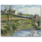 "Trademark Global Camille Pissarro ""The Farm at Osny"" Canvas Art, 35"" x 47"""