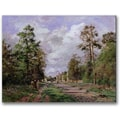 Trademark Global Camille Pissarro in.The Road to Louveciennes Edgein. Canvas Arts