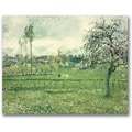 Trademark Global Camille Pissarro in.Meadow at Eragny, 1885in. Canvas Arts