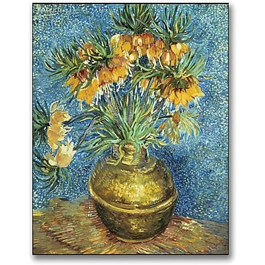 Trademark Global Vincent Van Gogh in.Crown Imperial Fritillariesin. Canvas Art, 24in. x 18in.