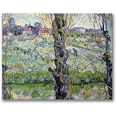 Trademark Global Vincent Van Gogh in.View of Arlesin. Canvas Art, 35in. x 47in.