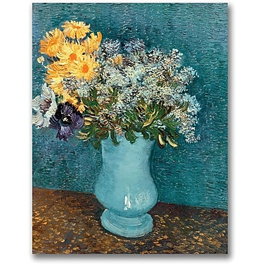 Trademark Global Vincent Van Gogh in.Vase of Flowersin. Canvas Art, 24in. x 18in.
