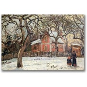 "Trademark Global Camille Pissaro ""Chestnut Trees at Louveciennes"" Canvas Arts"