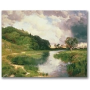 "Trademark Global Thomas Moran ""Approaching Storm Amagansett"" Canvas Arts"
