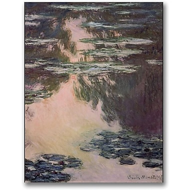 Trademark Global Claude Monet in.Waterlilies with Weeping Willowsin. Canvas Art, 32in. x 24in.