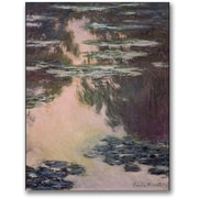 "Trademark Global Claude Monet ""Waterlilies with Weeping Willows"" Canvas Art, 32"" x 24"""