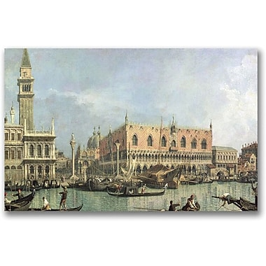 Trademark Global Canaletto in.The Molo and the Piazzettain. Canvas Art, 30in. x 47in.