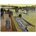 Trademark Global Vincent Van Gogh in.Le Pont De Trinquetaillein. Canvas Arts