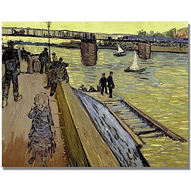 Trademark Global Vincent Van Gogh in.Le Pont De Trinquetaillein. Canvas Art, 35in. x 47in.