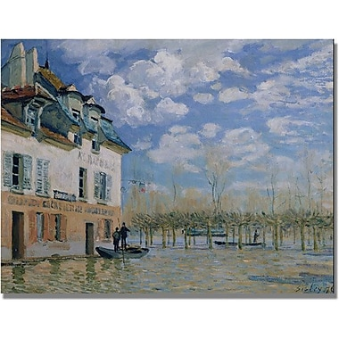 Trademark Global Alfred Sisley in.The Boat in the Floodin. Canvas Art, 18in. x 24in.