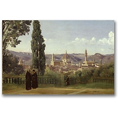 Trademark Global Jean Baptiste Corot in.View of Florencein. Canvas Arts