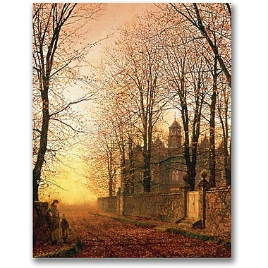 Trademark Global John Atkinson Grimshaw in.In the Golden Olden Timein. Canvas Art, 24in. x 18in.