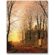 "Trademark Global John Atkinson Grimshaw ""In the Golden Olden Time"" Canvas Art, 24"" x 18"""