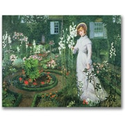 "Trademark Global John Atkinson Grimshaw ""The Rector's Garden"" Canvas Arts"