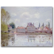 "Trademark Global Alfred Sisley ""The Bridge at Moret sur Loing"" Canvas Art, 18"" x 24"""