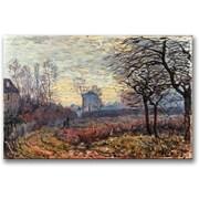 "Trademark Global Alfred Sisley ""Landscape Near Louveciennes"" Canvas Art, 16"" x 24"""