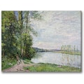 Trademark Global Alfred Sisley in.The Riverside Road from Veneuxin. Canvas Arts