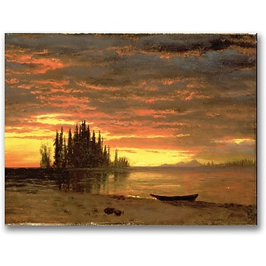 Trademark Global Albert Bierstadt in.California Sunsetin. Canvas Art, 24in. x 32in.