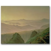 "Trademark Global Caspar David Friedrich ""Morning in the Mountain"" Canvas Art, 26"" x 32"""