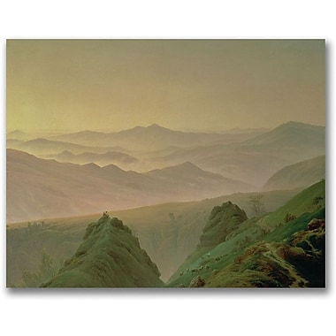 Trademark Global Caspar David Friedrich in.Morning in the Mountainin. Canvas Arts