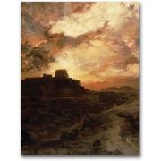 "Trademark Global Thomas Moran ""Sunset, Pueblo del Walpe, Arizona"" Canvas Art, 24"" x 32"""