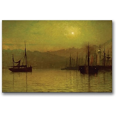 Trademark Global John Atkinson Grimshaw in.Calm Waters Scarboroughin. Canvas Art, 30in. x 47in.