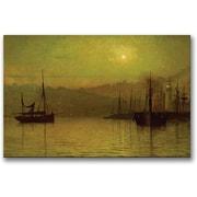 "Trademark Global John Atkinson Grimshaw ""Calm Waters Scarborough"" Canvas Art, 30"" x 47"""