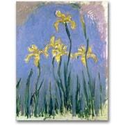 "Trademark Global Claude Monet ""The Yellow Irises, 1918-25"" Canvas Art, 24"" x 18"""