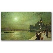 Trademark Global John Atkinson Grimshaw Reflections on The Thames Canvas Art, 30 x 47