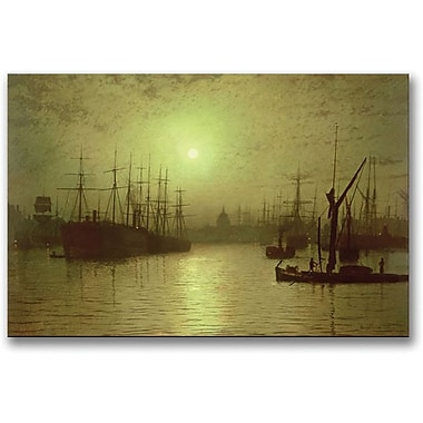Trademark Global John Atkinson Grimshaw in.Nightfall Down the Thames, 1880in. Canvas Arts