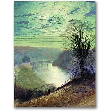 Trademark Global John Atkinson Grimshaw in.On the Tees near Barnard Castlein. Canvas Art, 24in. x 18in.