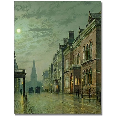 Trademark Global John Atkinson Grimshaw in.Park Row Leedsin. Canvas Art, 24in. x 18in.