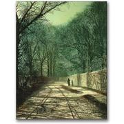"Trademark Global John Atkinson Grimshaw ""Tree Shadows in the Park Wall"" Canvas Art, 24"" x 18"""