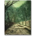 Trademark Global John Atkinson Grimshaw in.Tree Shadows in the Park Wallin. Canvas Art, 32in. x 24in.