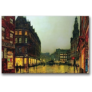 Trademark Global John Atkinson Grimshaw in.Boar Lane, Leeds 1881in. Canvas Art, 16in. x 24in.