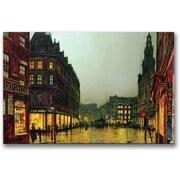 Trademark Global John Atkinson Grimshaw Boar Lane, Leeds 1881 Canvas Art, 30 x 47