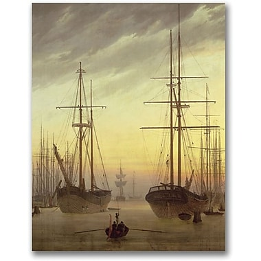 Trademark Global John Atkinson Grimshaw in.View of a Harbourin. Canvas Art, 47in. x 35in.