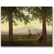 "Trademark Global Caspar David Friedrich ""Garden Terrace, 1811"" Canvas Arts"