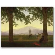 Trademark Global Caspar David Friedrich Garden Terrace, 1811 Canvas Art, 35 x 47